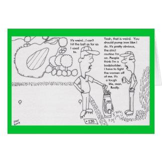 Cartão de aniversário do golfe