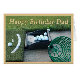 Cartão de aniversário do golfe para o pai