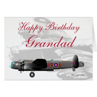Cartão de aniversário do Grandad de Avro Lancaster
