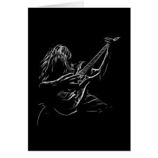 Cartão de aniversário do guitarrista da arte do