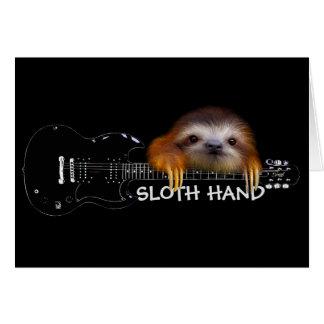 Cartão de aniversário do guitarrista da mão da