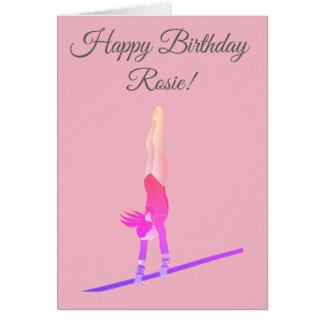 Cartão de aniversário do Gymnast