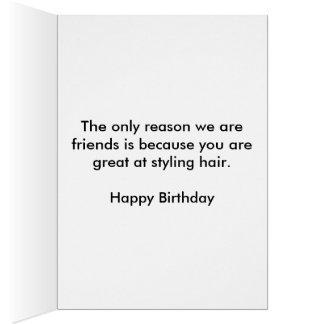 Cartão de aniversário do Hairstylist