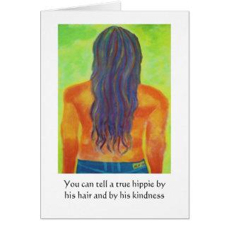 Cartão de aniversário do Hippie
