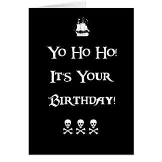 Cartão de aniversário do humor do pirata
