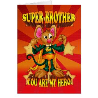 Cartão de aniversário do irmão - cartão super do
