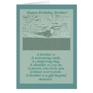 Cartão de aniversário do irmão da pega-do-mar