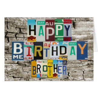 Cartão de aniversário do irmão das matrículas