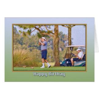 Cartão de aniversário do jogador de golfe