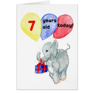 """Cartão de aniversário do """"jumbo"""" 7o"""