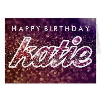 cartão de aniversário do katie