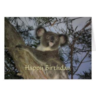 Cartão de aniversário do Koala