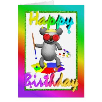 Cartão de aniversário do Koala do artista