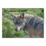 Cartão de aniversário do lobo