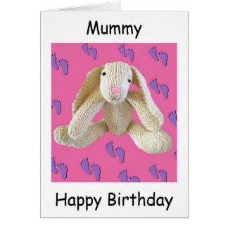 Cartão de aniversário do mam da mãe da mamã da