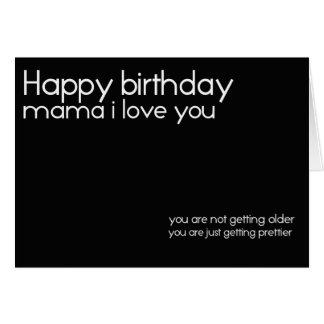 cartão de aniversário do mama do feliz aniversario