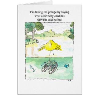 """Cartão de aniversário do """"mergulho"""""""