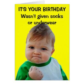 Cartão de aniversário do miúdo do sucesso