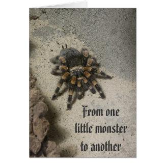 Cartão de aniversário do monstro do Tarantula