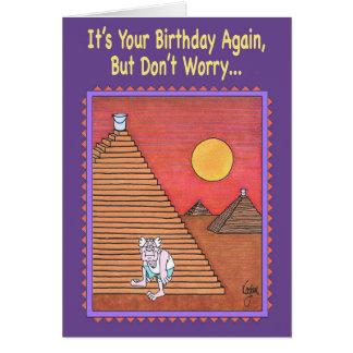 Cartão de aniversário do MONTANHISTA da PIRÂMIDE