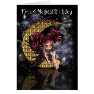 Cartão de aniversário do namorada com fada gótico
