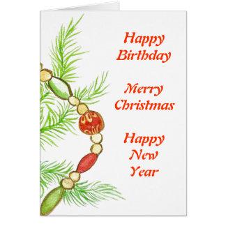Cartão de aniversário do Natal