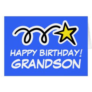 Cartão de aniversário do neto