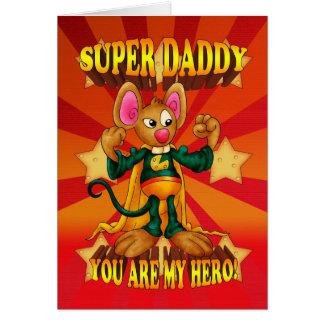 Cartão de aniversário do pai - cartão super do rat