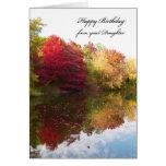 Cartão de aniversário do pai da filha -- Cena do o