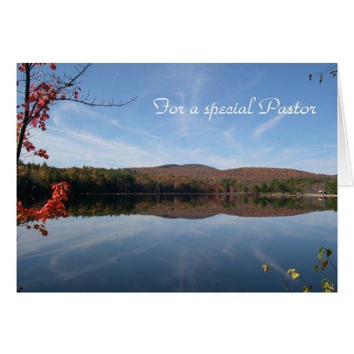 Cartão de aniversário do pastor da opinião do lago