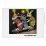 cartão de aniversário do patinete
