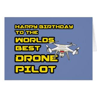Cartão de aniversário do piloto do zangão dos