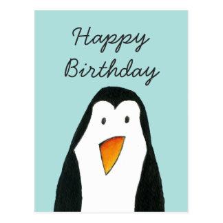 Cartão de aniversário do pinguim