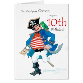 Cartão de aniversário do pirata do divertimento