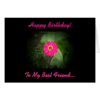 Cartão de aniversário do poema do melhor amigo