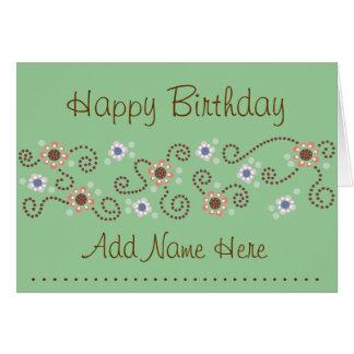 Cartão de aniversário do ponto