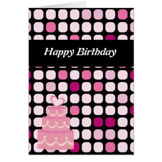 Cartão de aniversário do ponto do póquer