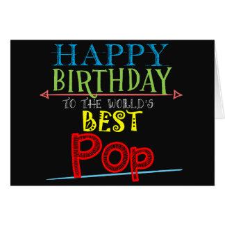 Cartão de aniversário do pop para o alternativo do