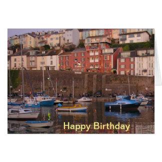 Cartão de aniversário do porto de Brixham