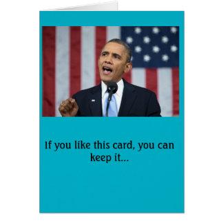 Cartão de aniversário do presidente Obama