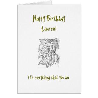 Cartão de aniversário do primo