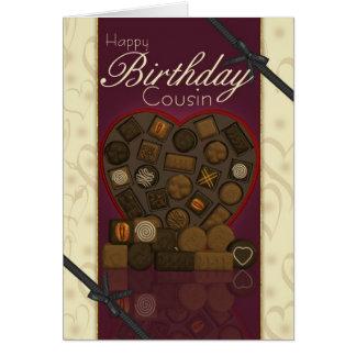 Cartão de aniversário do primo - chocolates