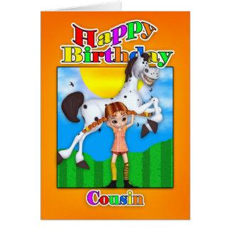 Cartão de aniversário do primo - com torta Longsto