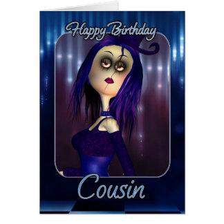Cartão de aniversário do primo - gótico bonito da