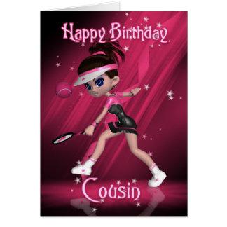 Cartão de aniversário do primo - tênis