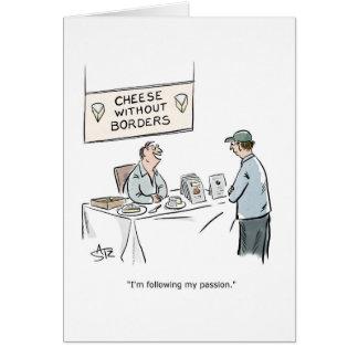 Cartão de aniversário do queijo