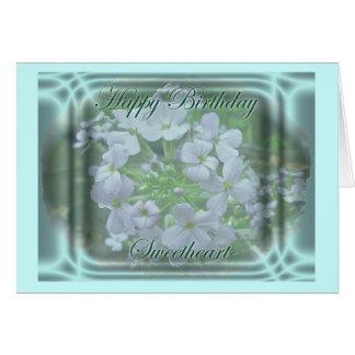 Cartão de aniversário do querido do Phlox