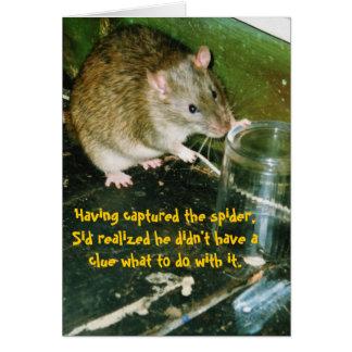 cartão de aniversário do rato