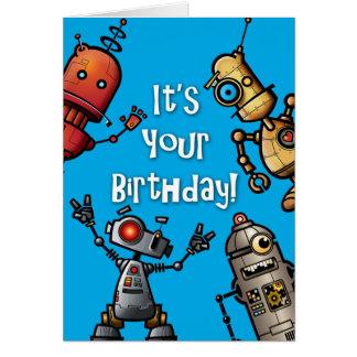 Cartão de aniversário do robô