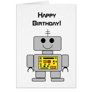 """Cartão de aniversário do """"robô"""""""